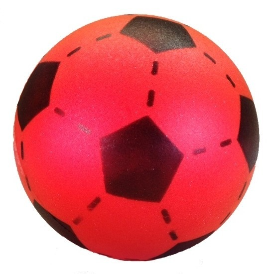 Zachte voetbal rood gekleurd 20 cm