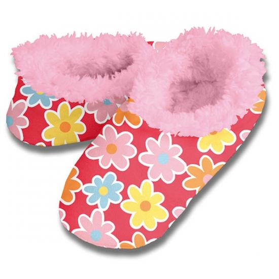 Zachte winter pantoffels bloemen print