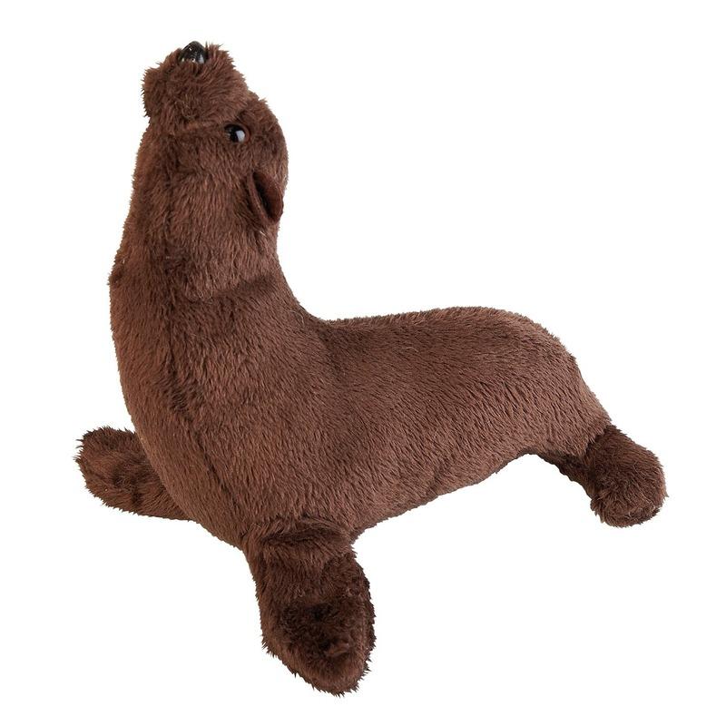 Zeeleeuwen speelgoed artikelen zeeleeuw knuffelbeest bruin 15 cm