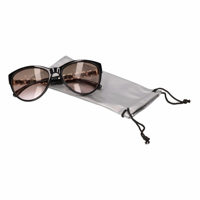 Zonnebrillen bescherm etui/hoesjes zilver