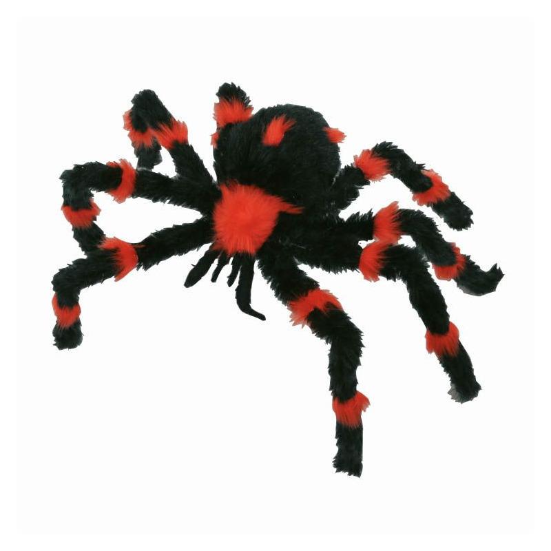 Zwart met oranje spin 60 cm