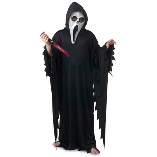 Zwart Scream verkleed kostuum/gewaad voor kinderen