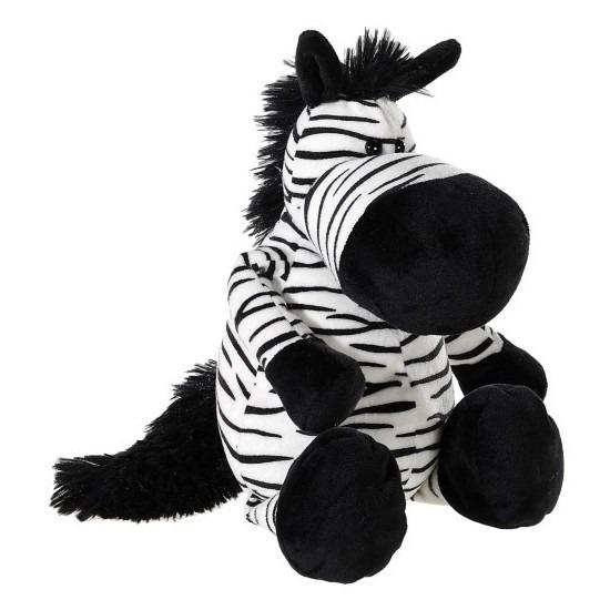 Zwart witte pluche zebra knuffel 33 cm