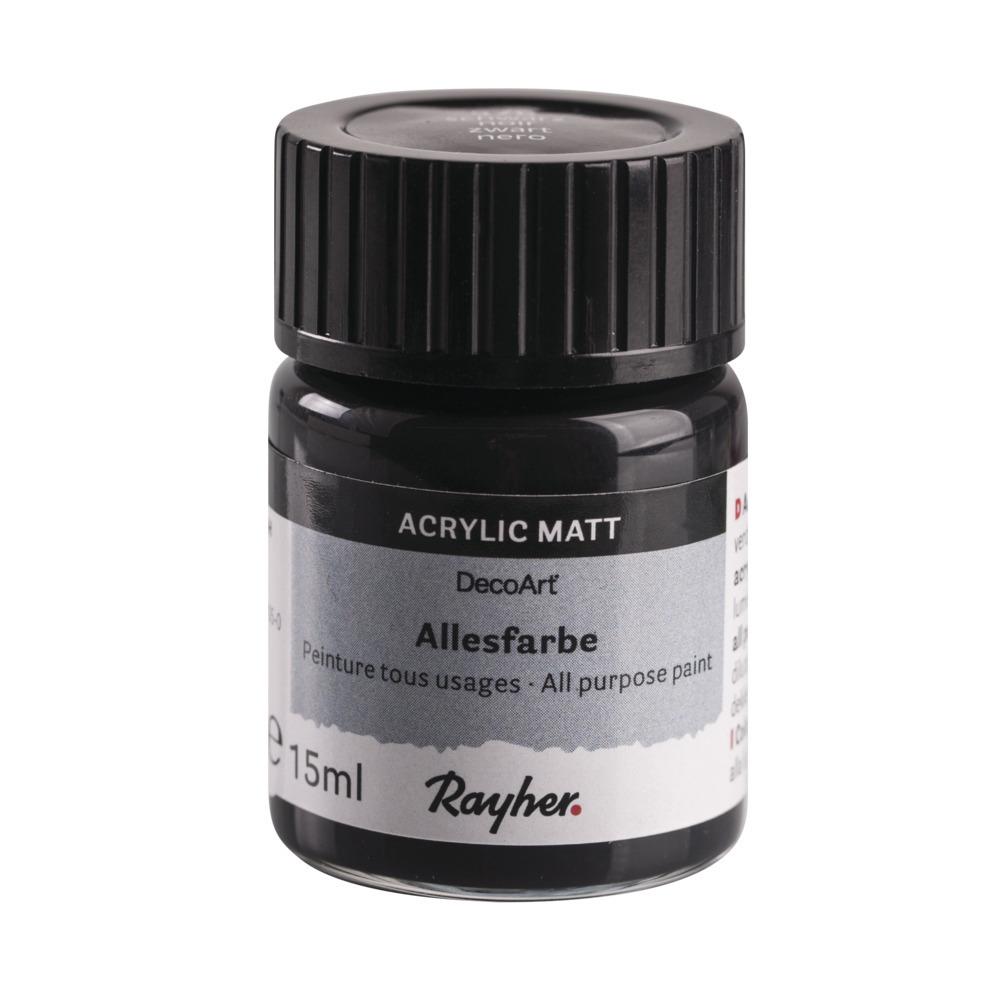 Zwarte acrylverf/allesverf potje 15 ml hobby/knutselmateriaal