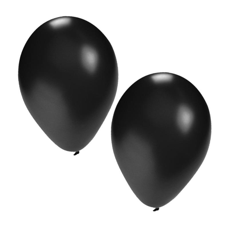 Zwarte ballonnen 25x stuks