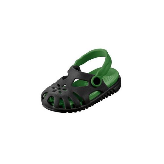 Zwarte camping schoentjes met verwijderbare zool