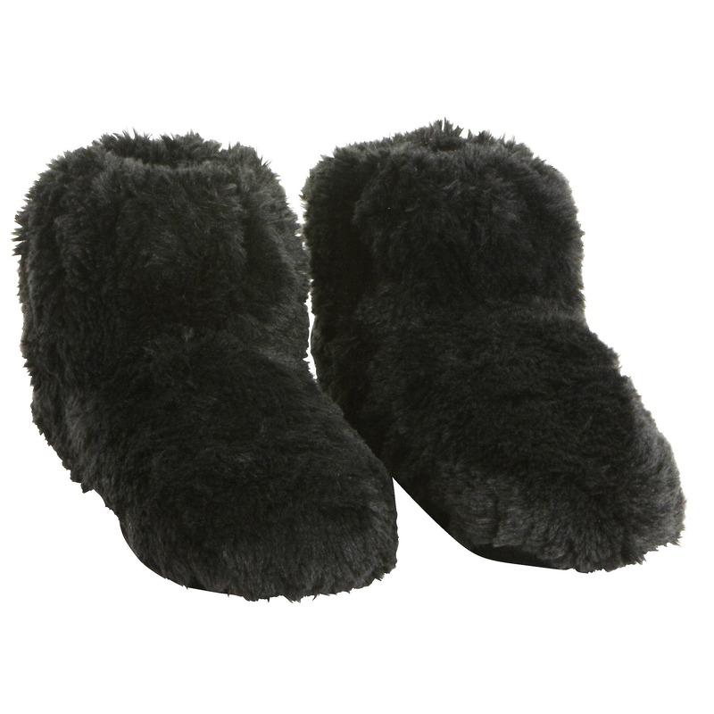 Zwarte warmte pantoffels/sloffen voor dames